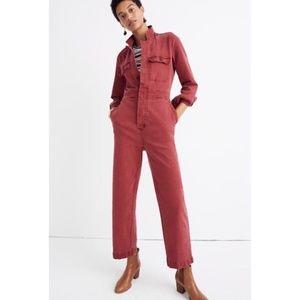 Madewell Coverall Garment Dyed Denim Slim Jumpsuit